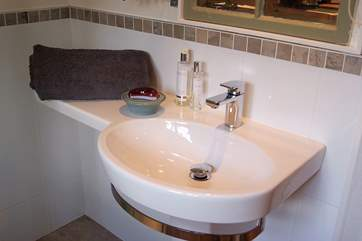 Modern fixtures and fittings.