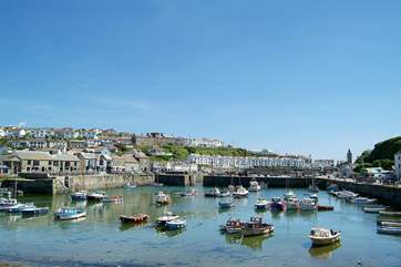 Nearby Porthleven's picturesque harbour.