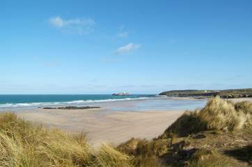 On the north coast, miles of golden sands stretch between St Ives and Godrevy Point.