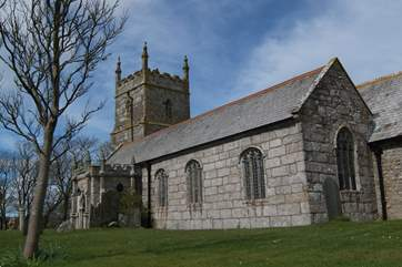 The pretty church at Wendron.
