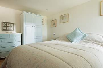The ground floor bedroom with double bed.