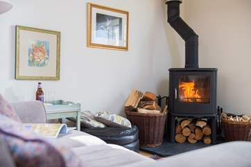 Get cosy on a winter's evening in front of the warming wood-burner.