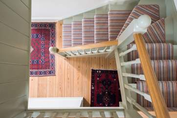 The cottage stairs.