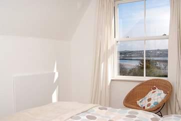 The double en suite bedroom (Bedroom 1) has views of the tidal estuary.