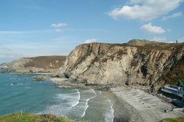 Trevaunance Cove is the local beach, only about a mile from Gillyvean.