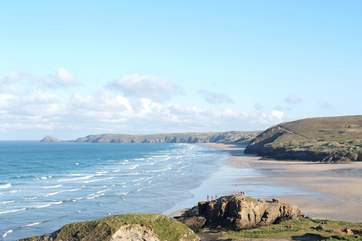 Perranporth beach, famous for its surf, sand and dunes, is less than four miles away.