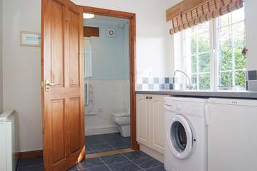The shower-room is off the utility-room.