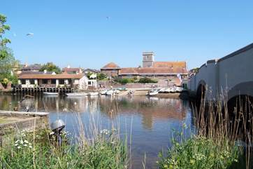 The Quay at Wareham, an historic Saxon town very nearby