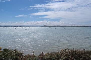 A view of Poole Harbour. You can catch the ferry across  from Studland.