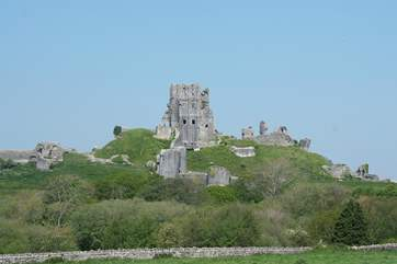 Spectacular Corfe Castle in the National Trust village of Corfe is a lovely day out.