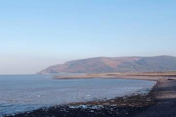 This is the rugged coastline at Porlock  where Exmoor meets the sea.