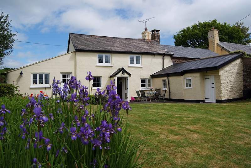 Traditional Cleveland Cottage has a beautiful enclosed cottage garden.