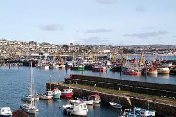 Newlyn Harbour is a short distance away.