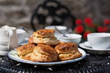 A delicious cream tea awaits you on arrival.