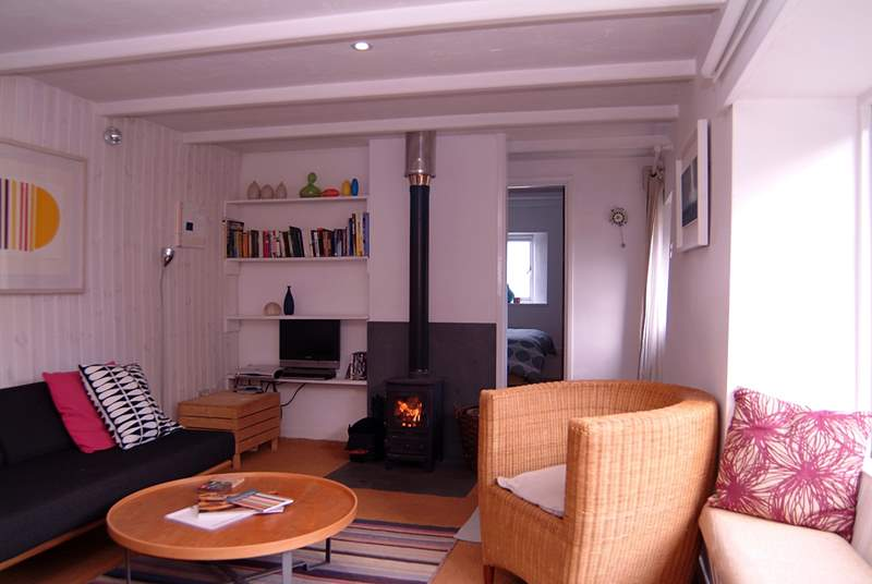 The open plan living-area.
