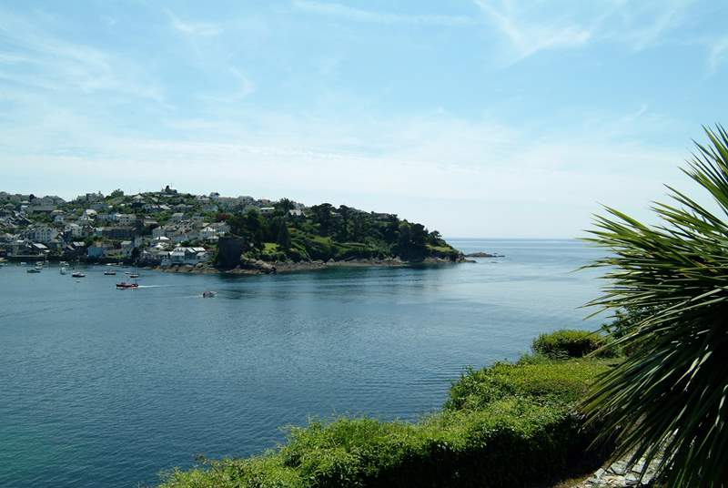 Looking from the Esplanade in Fowey across the estuary to Polruan.