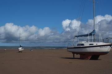 This is the beach at Instow, a great place for long walks  and dog friendly all year round.