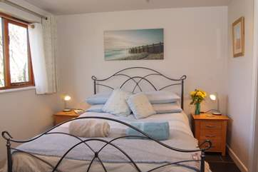 The bedroom is beautifully presented.