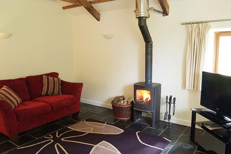 On those cooler evenings you can snuggle up on one of the sofas in front of the toasty wood-burner.