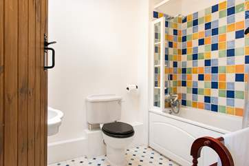 The en suite bathroom in the annexe.