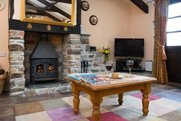 The wood-burner makes this a great holiday cottage all year round.