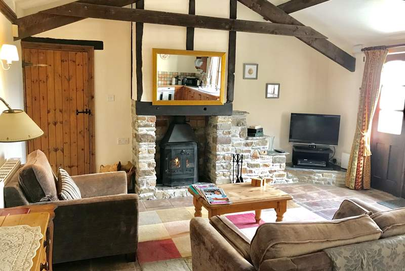 The woodburner makes this a great retreat all year round