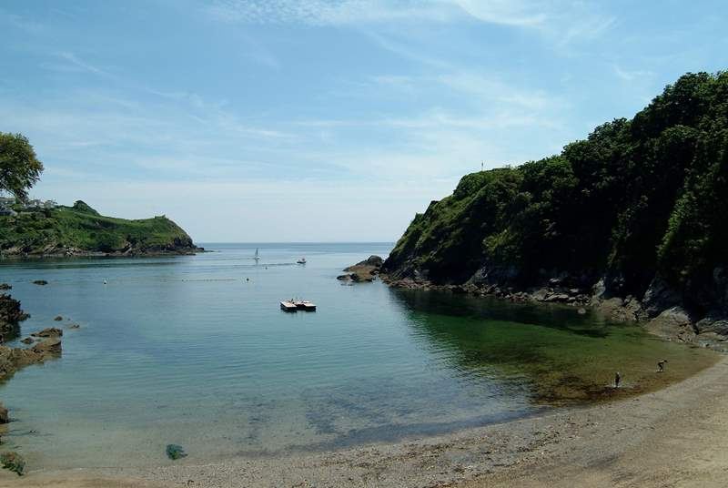 Readymoney cove in Fowey is perfect for children.