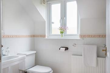 The family bathroom on the first floor (with a cloakroom on the ground floor).