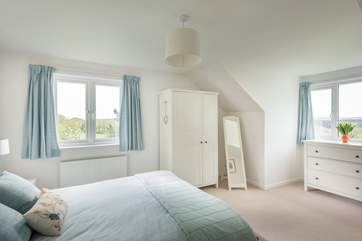 Bedroom 1 is very spacious and light.
