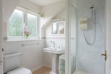 The shower-room for Bedroom 1.