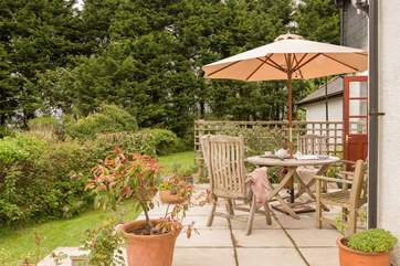 A wonderfully private and tranquil spot for meals.