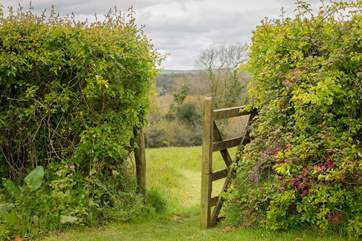 This gateway leads from the lawn to the meadow.