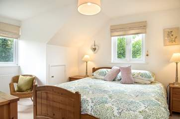 Bedroom 2 can be made up as either a super king  as shown here or twin beds