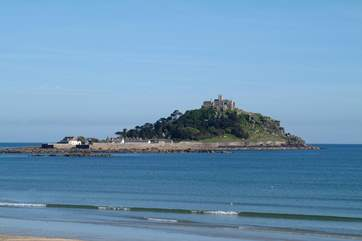 St Michael's Mount is a short distance away and visible in the distance from Cherry Orchard.