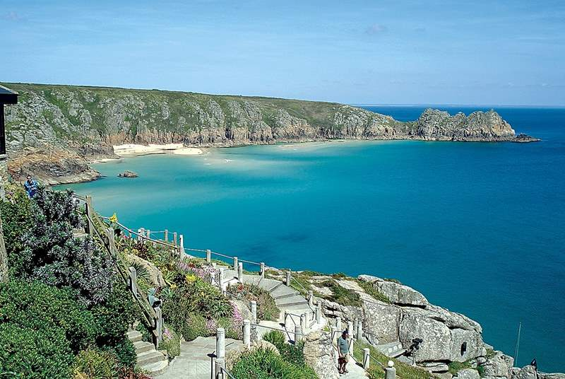 Porthcurno beach and the Minack Theatre are two miles distant.