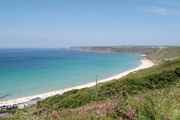 Sennen Cove is a short drive away.