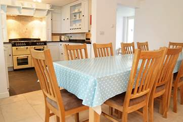 The dining-area is within easy access of the kitchen and ground floor living-room.