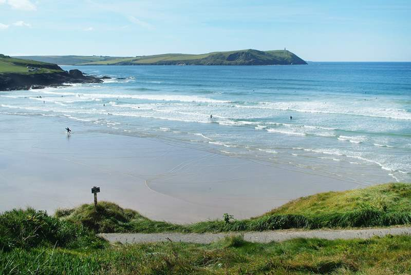 Nearby Polzeath beach.