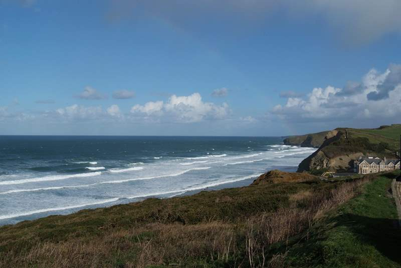Watergate Bay where you can ride the waves, enjoy the view whilst dining at Fifteen Cornwal or don your walking boots and take to the coastal footpath.
