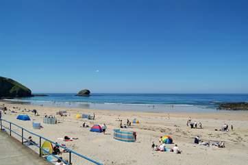 Portreath's family-friendly beach is a twenty minute drive away.
