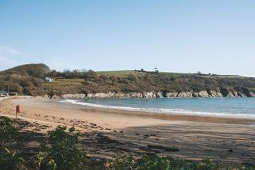 Sandy Maenporth Beach is a stroll down the road.