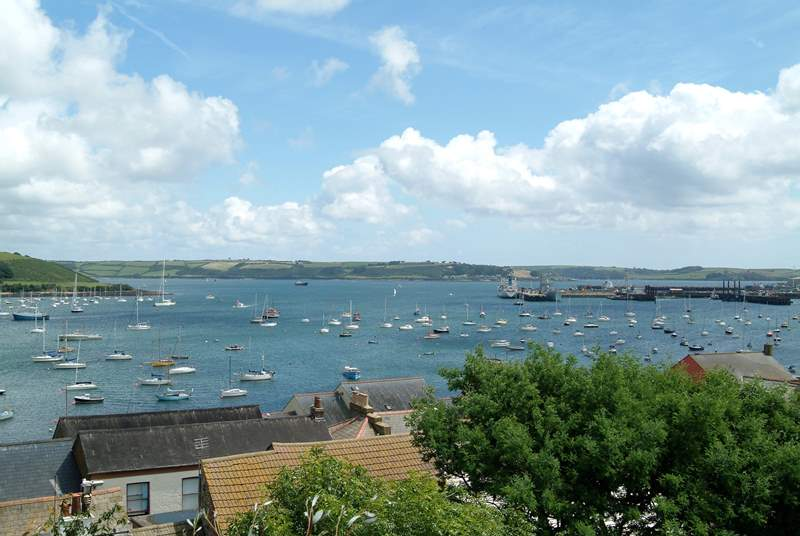 Wonderful views over Falmouth harbour.