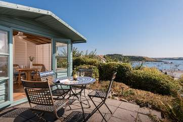 Enjoy the peace and quiet down by the summer house.