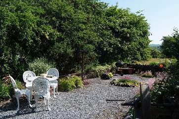 The sheltered cottage garden.