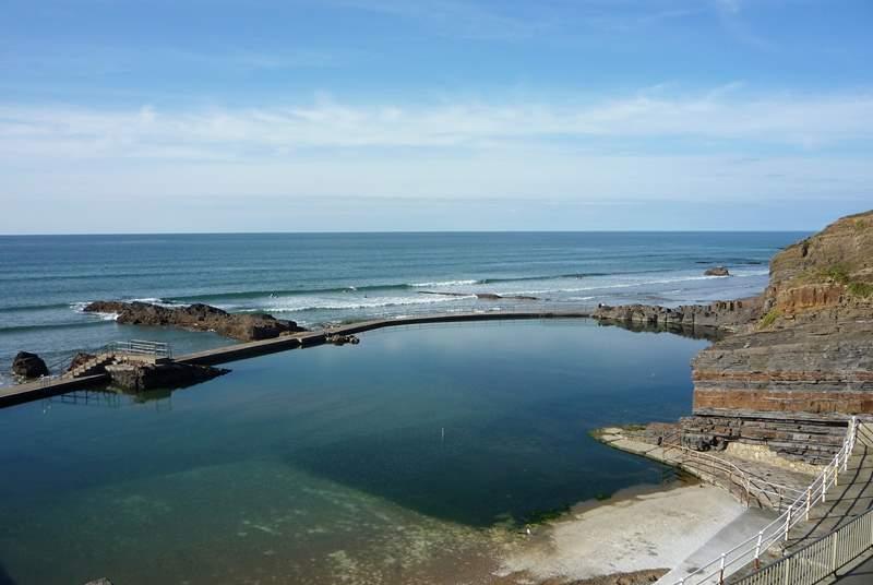 The open-air salt-water pool.