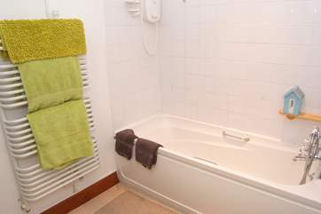 The bathroom is on the ground floor with the bedrooms - offering a bath as well as a shower.