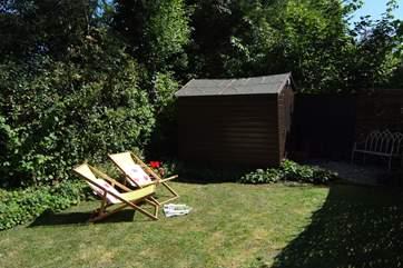 The garden is a sun-trap!