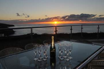 A champagne sunset.