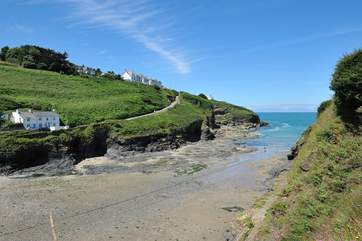 The beach at Port Gaverne is ideal for children and it also has a fabulous pub