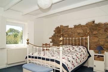 This double bedroom (Bedroom 3) has a lovely brass bed.